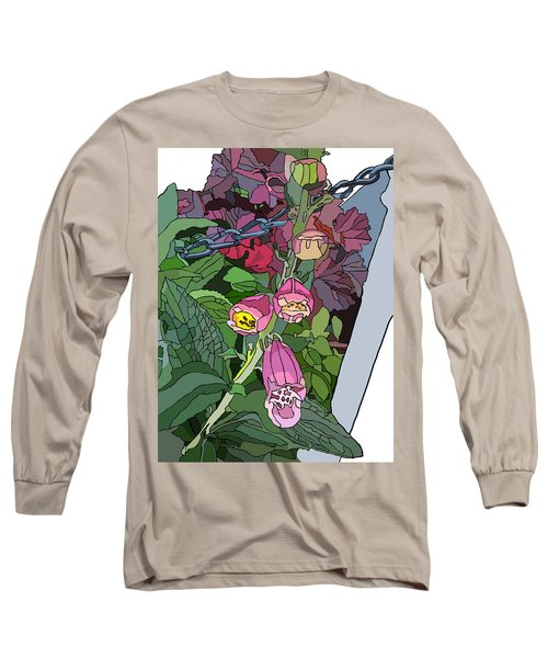Coral Bells In The Garden Long Sleeve T-Shirt