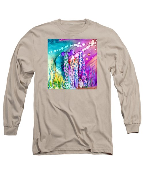 Coral Columns Long Sleeve T-Shirt by Alene Sirott-Cope