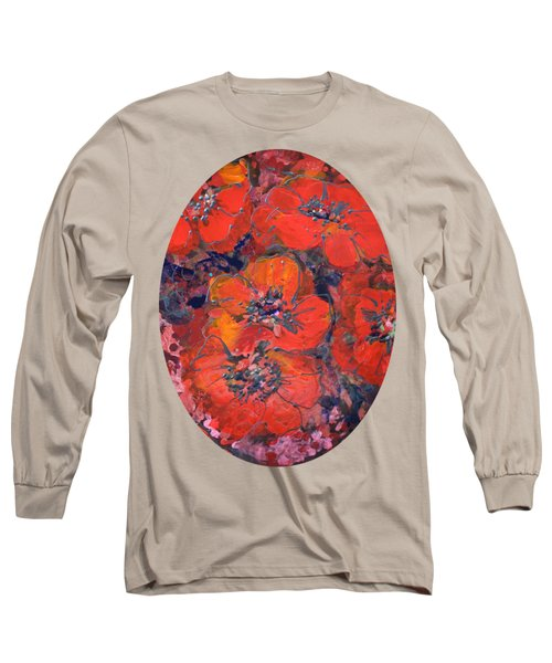 Coral Poppies Long Sleeve T-Shirt