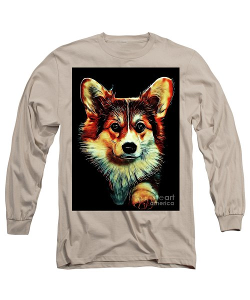 Corgi Portrait Long Sleeve T-Shirt