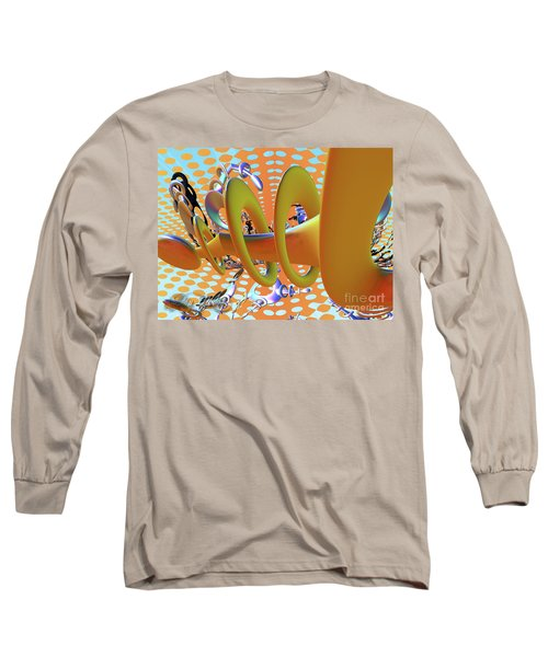 Corkscrew Long Sleeve T-Shirt by Melissa Messick