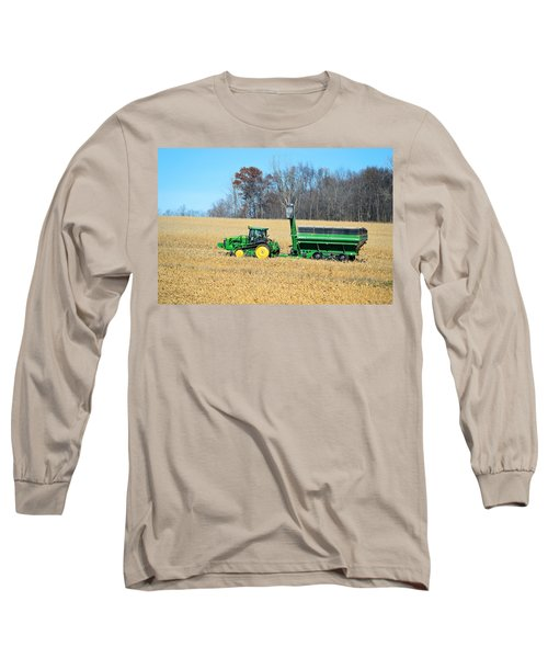 Corn Harvest Long Sleeve T-Shirt by Bonfire Photography