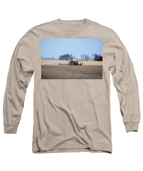 Corn Planting Long Sleeve T-Shirt by Bonfire Photography
