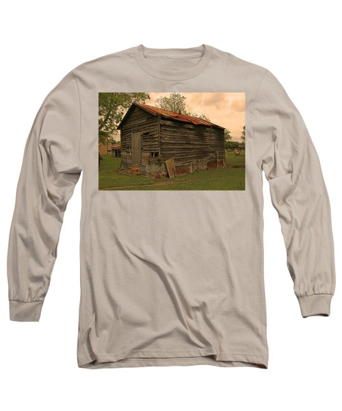 Corn Shed Long Sleeve T-Shirt by Ronald Olivier