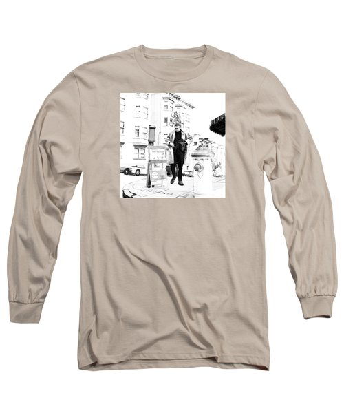 Corner Of Clay And Taylor Long Sleeve T-Shirt by Kurt Ramschissel