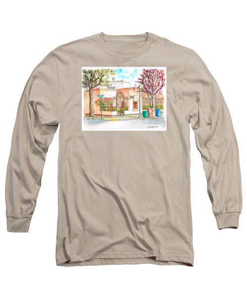 Corner With Bougainvillas In San Luis Obispo, California Long Sleeve T-Shirt by Carlos G Groppa