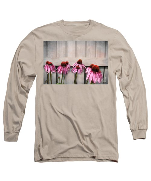 Coneflower Couples Long Sleeve T-Shirt by Nina Silver