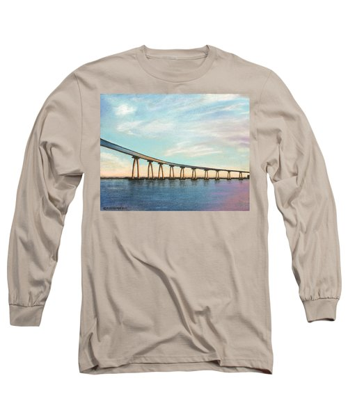 Coronado Bridge Sunset A Long Sleeve T-Shirt