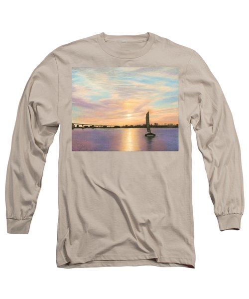 Coronado Bridge Sunset  B Long Sleeve T-Shirt