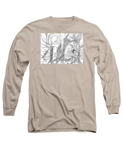 Cosmic Cornfield Long Sleeve T-Shirt by Charles Cater