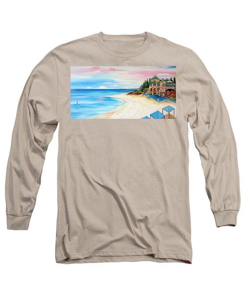 Cottesloe Beach Indiana Tea House Long Sleeve T-Shirt