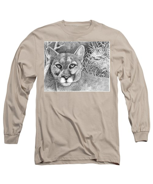 Cougar Long Sleeve T-Shirt by Lawrence Tripoli