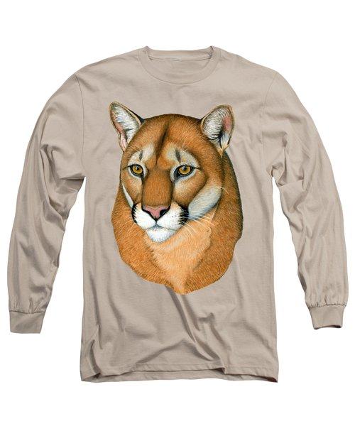 Cougar Portrait Long Sleeve T-Shirt