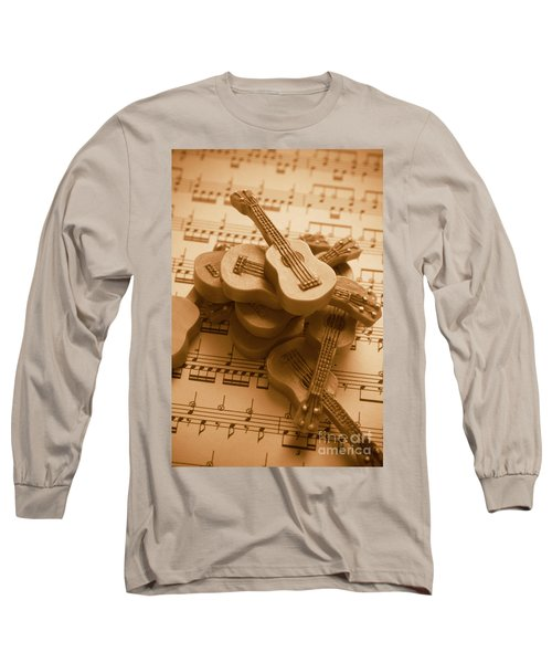 Country And Western Guitars. Music Education Long Sleeve T-Shirt