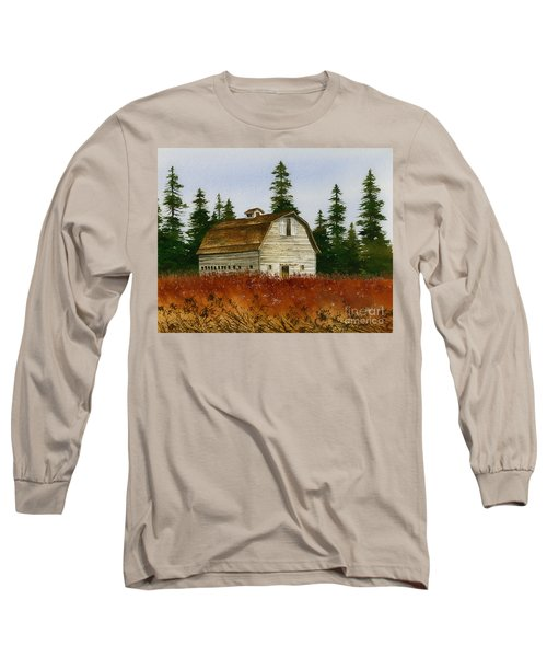 Long Sleeve T-Shirt featuring the painting Country Landscape by James Williamson