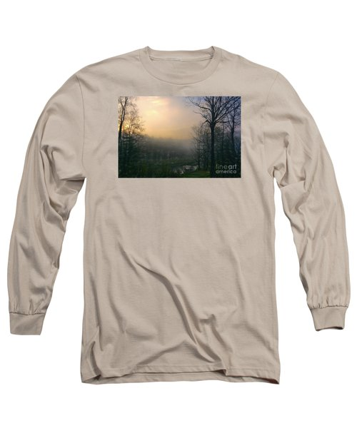 Country Sketch Long Sleeve T-Shirt by Mim White