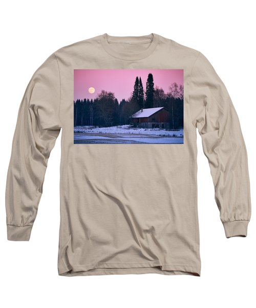 Countryside Full Moon Scenery Long Sleeve T-Shirt