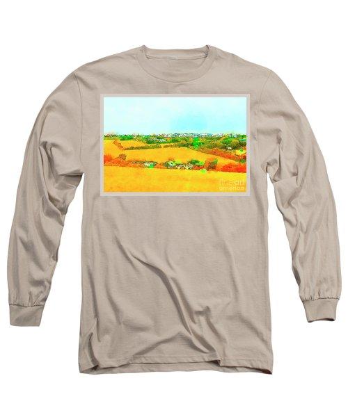 countryside  in Cornwall, UK Long Sleeve T-Shirt