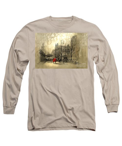 Couple In City Long Sleeve T-Shirt