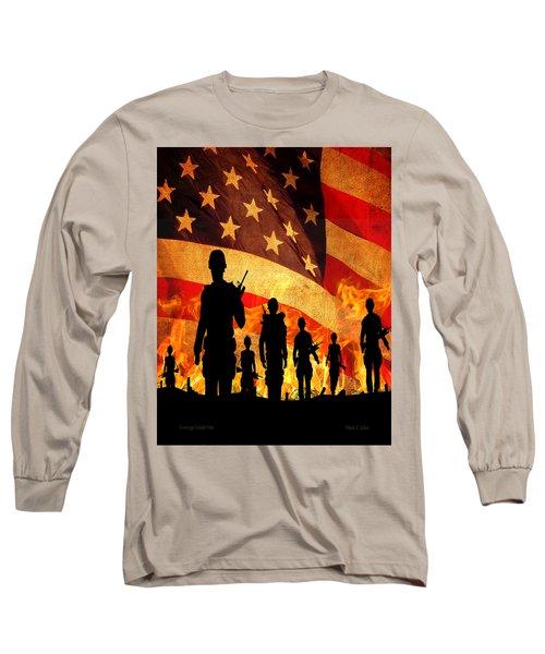 Courage Under Fire Long Sleeve T-Shirt by Mark Allen