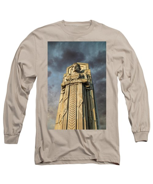 Covered Wagon Guardian On Hope Memorial Bridge Long Sleeve T-Shirt