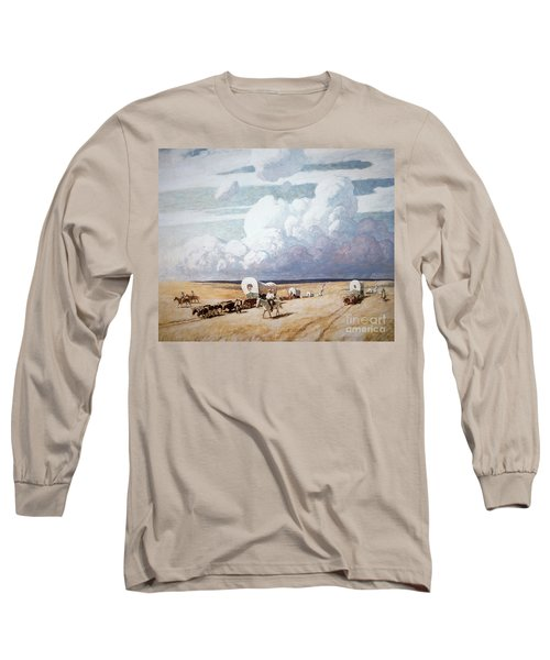 Covered Wagons Heading West Long Sleeve T-Shirt
