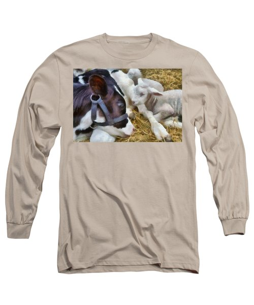 Cow And Lambs Long Sleeve T-Shirt