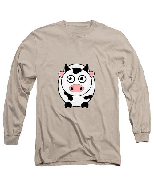 Cow - Animals - Art For Kids Long Sleeve T-Shirt by Anastasiya Malakhova