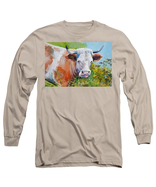 Cow With Horns Long Sleeve T-Shirt