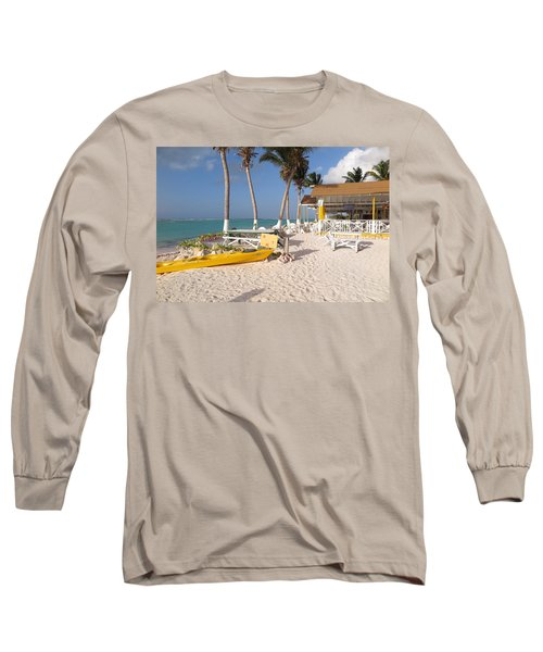 Long Sleeve T-Shirt featuring the photograph Cow Wreck Bay Beach Bar 2 by Eric Glaser