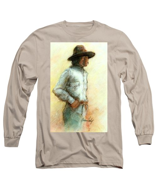 Cowboy In Thought Long Sleeve T-Shirt