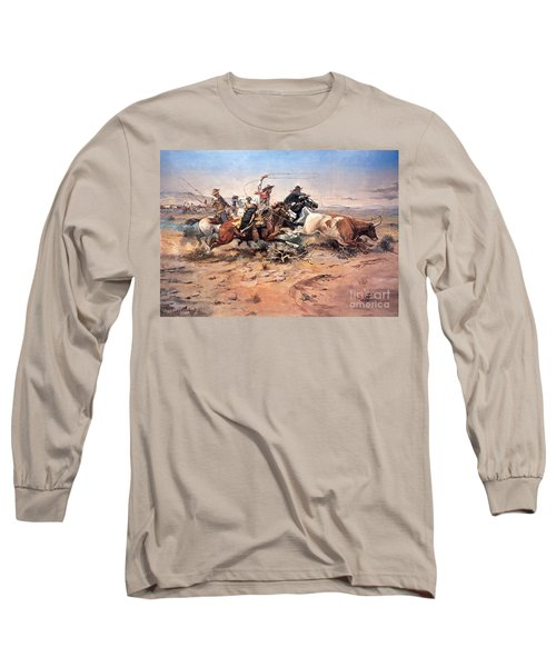 Cowboys Roping A Steer Long Sleeve T-Shirt