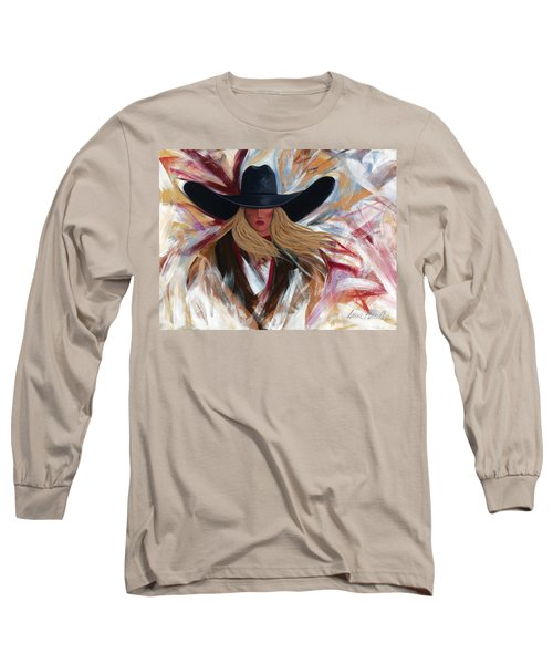 Cowgirl Colors Long Sleeve T-Shirt by Lance Headlee