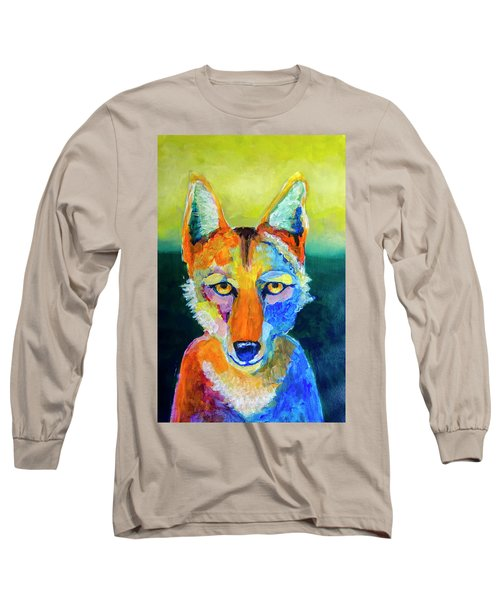 Coyote Long Sleeve T-Shirt by Rick Mosher