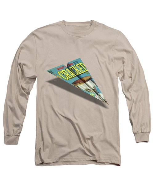 109 Cracked Mad Paper Airplane Long Sleeve T-Shirt