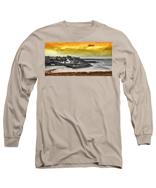 Crail Harbour Long Sleeve T-Shirt by Jeremy Lavender Photography
