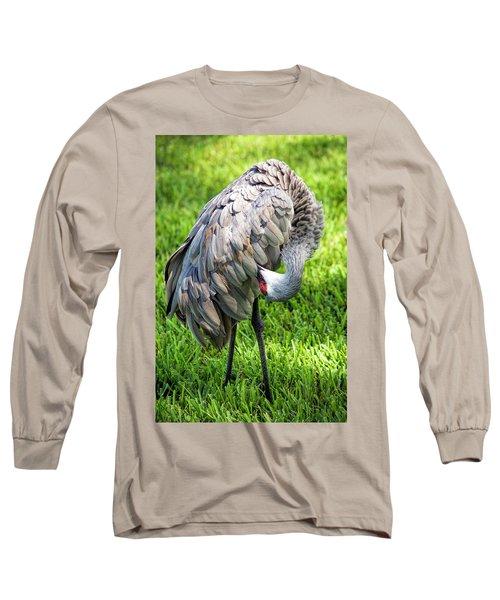 Crane Down Under Long Sleeve T-Shirt