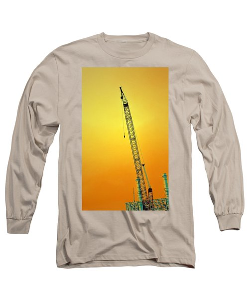 Crane With Towers Long Sleeve T-Shirt