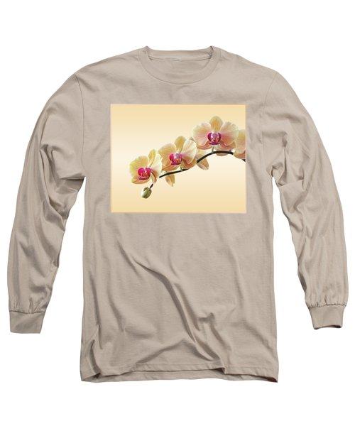 Cream Delight Long Sleeve T-Shirt by Gill Billington