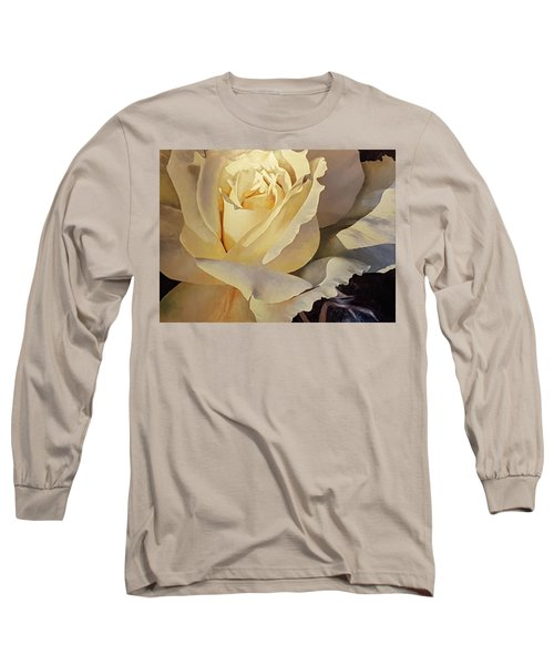 Creamy Rose Long Sleeve T-Shirt