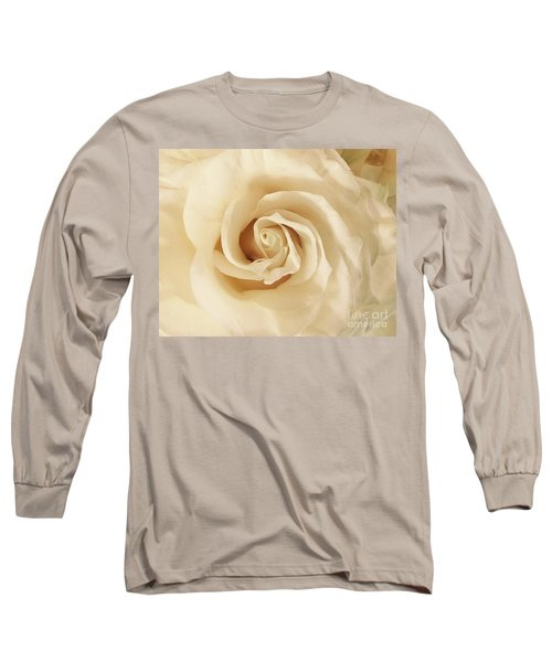 Creamy Rose Long Sleeve T-Shirt