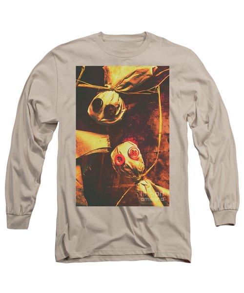 Creepy Halloween Scarecrow Dolls Long Sleeve T-Shirt