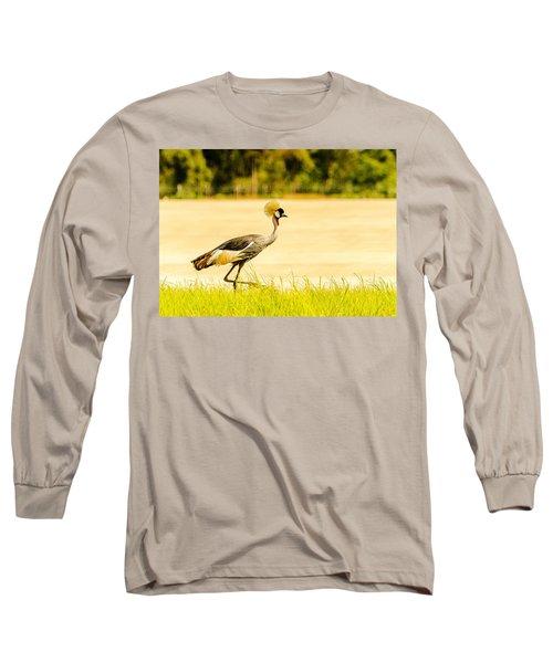 Crested Crane Long Sleeve T-Shirt