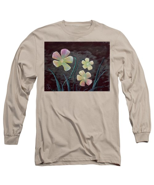 Crimson Flower Long Sleeve T-Shirt