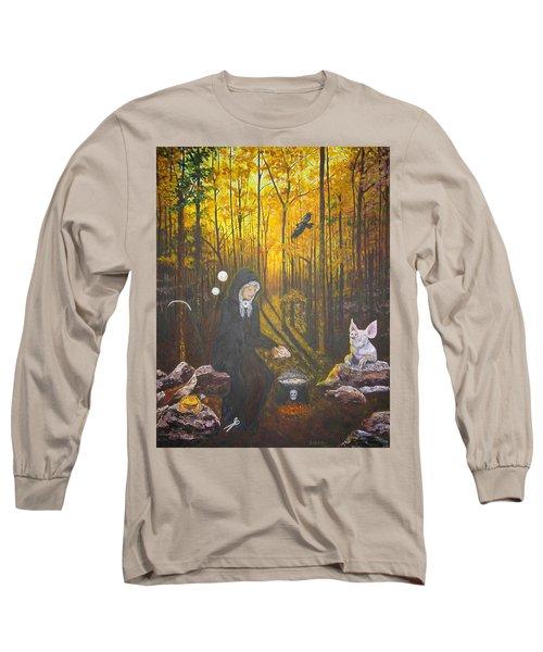 Crone Goddess Keridwen - Samhain Long Sleeve T-Shirt