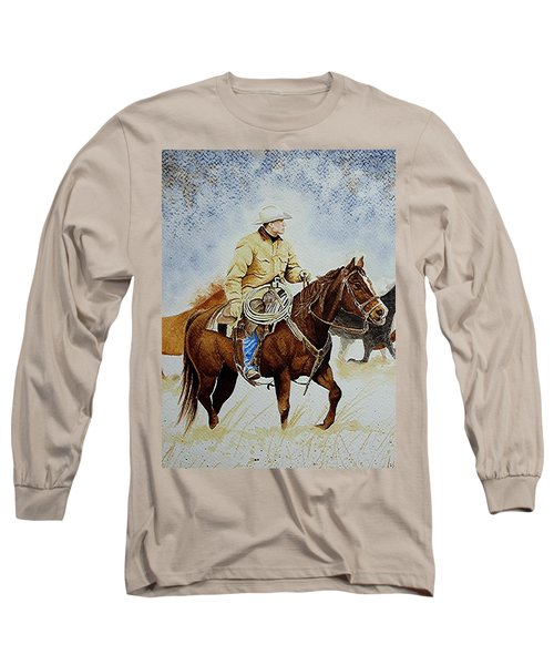 Cropped Ranch Rider Long Sleeve T-Shirt