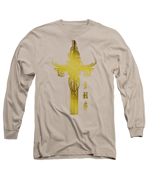 Cross Ihs Gold Long Sleeve T-Shirt