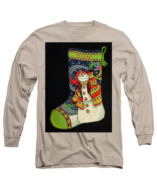 Cross-stitch Stocking Long Sleeve T-Shirt by Farol Tomson