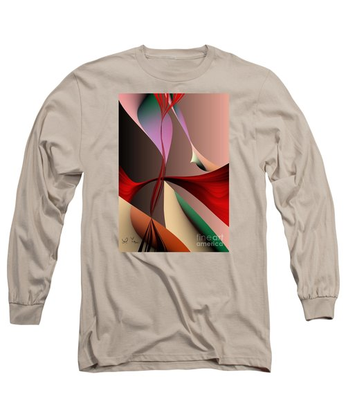 Long Sleeve T-Shirt featuring the digital art Crossfading by Leo Symon