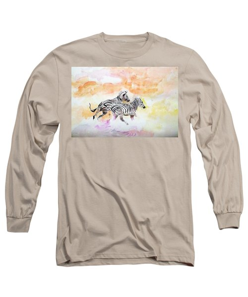 Crossing The River. Long Sleeve T-Shirt by Khalid Saeed